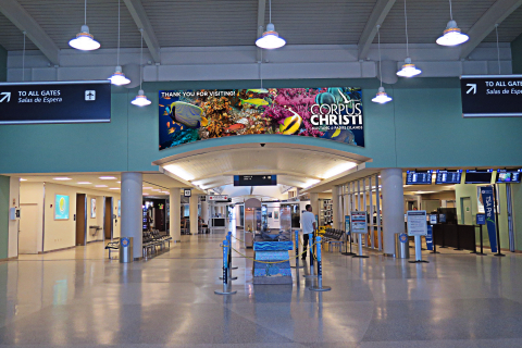 Clear Channel Airport's new advertising network at CCIA will blend modern design with the coastal flavor that's unique to Corpus Christi, Texas. (Photo: Business Wire)