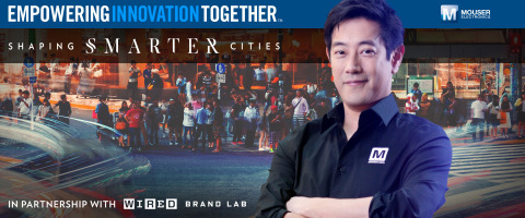 Global distributor Mouser Electronics and engineer spokesperson Grant Imahara are teaming up to present the Shaping Smarter Cities project, part of Mouser's Empowering Innovation Together program. The new series explores global technological solutions for dense population zones, and how different companies are creating a more livable future for our cities. To learn more, visit www.mouser.com/empowering-innovation. (Photo: Business Wire)