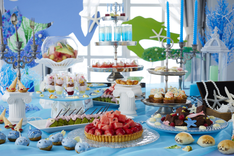 "Keio Plaza Hotel Tokyo's ""Princess Mermaid Sweets Buffet"" will offer desserts patterned after various sea creatures reminiscent of characters from The Little Mermaid fairy tale. (Photo: Business Wire)"