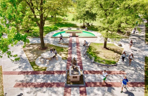 St. Ignatius Plaza is one of many beautiful spaces on the John Carroll campus. (Photo: Business Wire ...