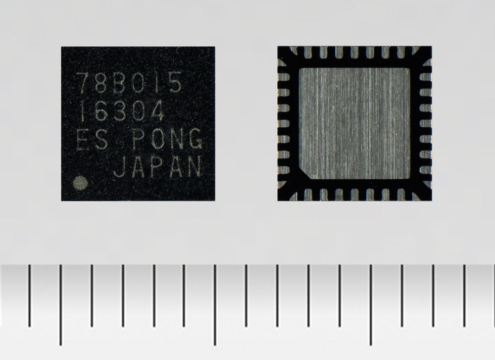 """Toshiba: a three-phase brushless motor driver """"TC78B015FTG"""" for 12V power supply that supports high speed rotation of small fan motors. (Photo: Business Wire)"""