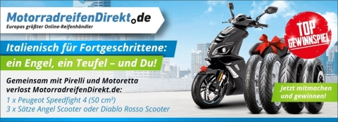 Noch bis zum 31.07.2017 Gewinnspielfrage beantworten und als Hauptpreis einen Peugeot Scooter gewinnen (Foto: Business Wire)