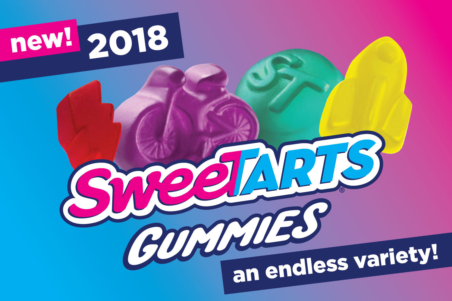 SweeTARTS unveiled SweeTARTS Gummies in an endless variety of shapes with innovative art mosaic installation (Graphic: Business Wire)
