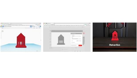 Go from 3D design in Tinkercad to 3D printing with My MakerBot (Photo: Business Wire)