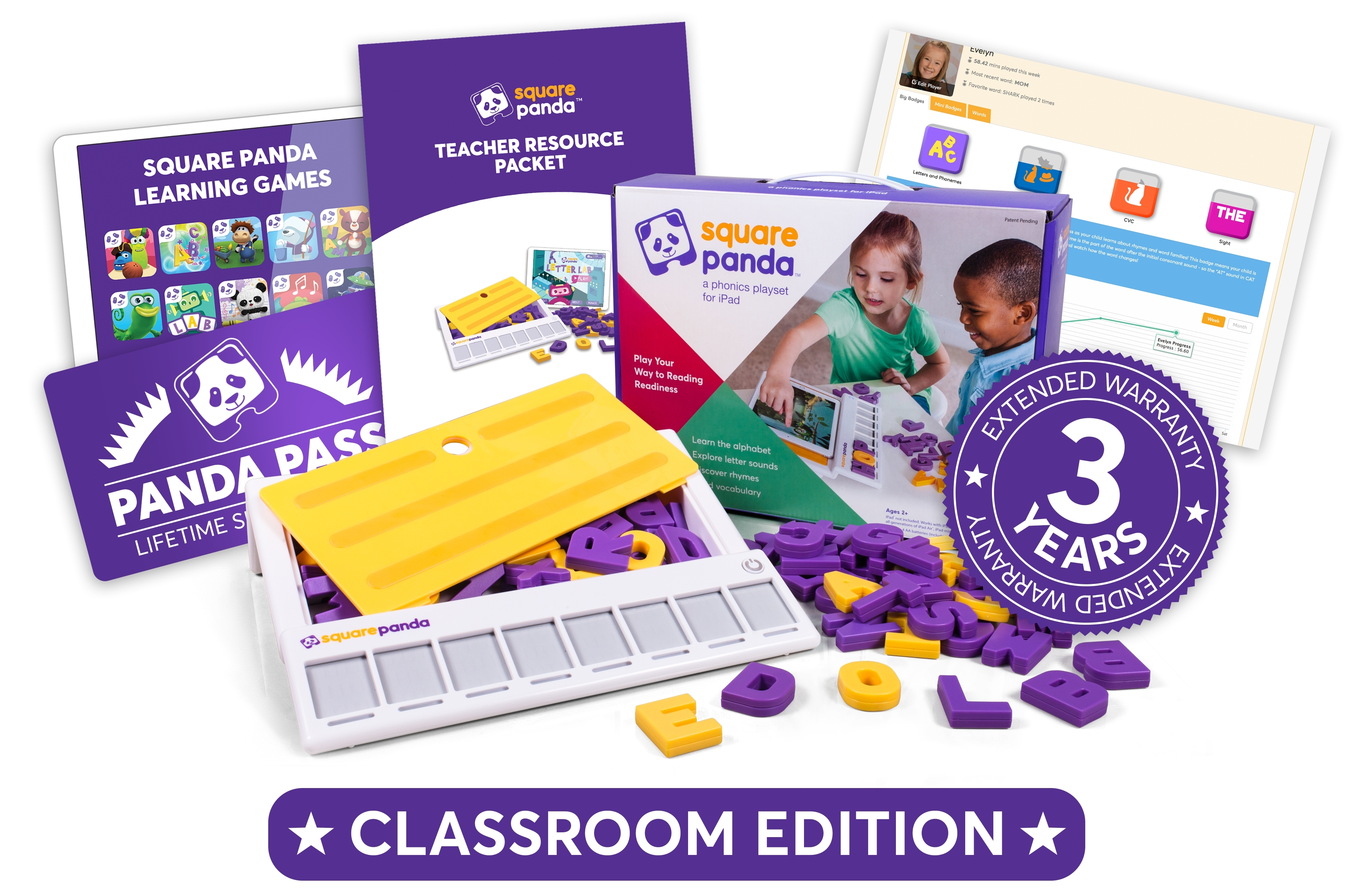 The Square Panda Classroom Edition offers teachers a complete early literacy package to support phonics development in their classroom (Graphic: Business Wire)