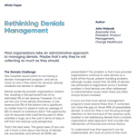 Rethinking Denials Management