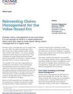 Reinventing Claims Management for the Value-Based era