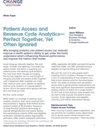 Patient Access and Revenue Cycle Analytics — Perfect Together, Yet Often Ignored
