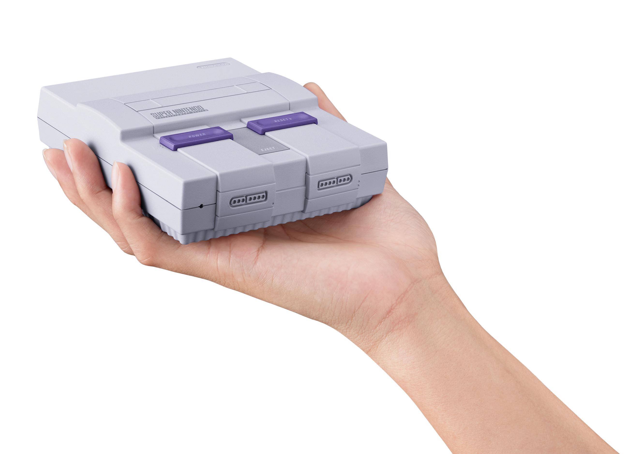 The Super Nintendo Entertainment System: Super NES Classic Edition has the same look and feel of the original system - only smaller - and comes pre-loaded with 21 incredible games. (Photo: Business Wire)