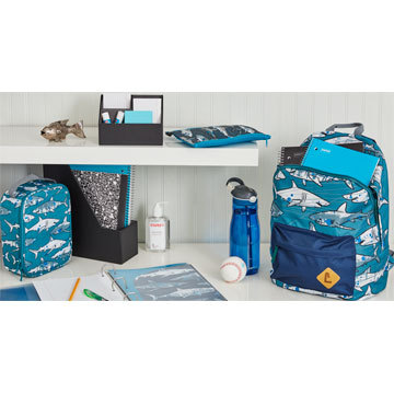 The Staples® Kid's 16-inch hangs on to summer just enough with its fun, unique patterns: shark, hear ...