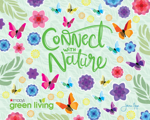 """The winning design in Macy's """"Connect with Nature"""" employee contest for Earth Week 2017 was created by New York City associate Jenna D. The full-color design is featured on natural canvas totes available for $3.99 at select Macy's stores while supplies last. (Photo: Business Wire)"""