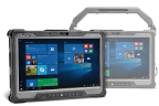 The Getac A140 is equipped with a brilliant 14-inch, 1000 NITs sunlight readable display, dual hot-swappable batteries, available Intel Core i5 and i7 processors, and a suite of security features make it the most robust, purpose-built fully rugged tablet for public safety, automotive and military personnel in the industry. (Photo: Business Wire)