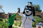 UnitedHealthcare mascot Dr. Health E. Hound joins 4-H and UnitedHealthcare volunteers in teaching kids about healthy foods at a Food Smart Families event in Arizona (Photo: National 4-H Council).