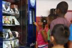 JetBlue installs four custom vending machines throughout Fort Lauderdale to distribute 100,000 books, free of charge. The vending machines will include a variety of children's books. (Photo: Business Wire)