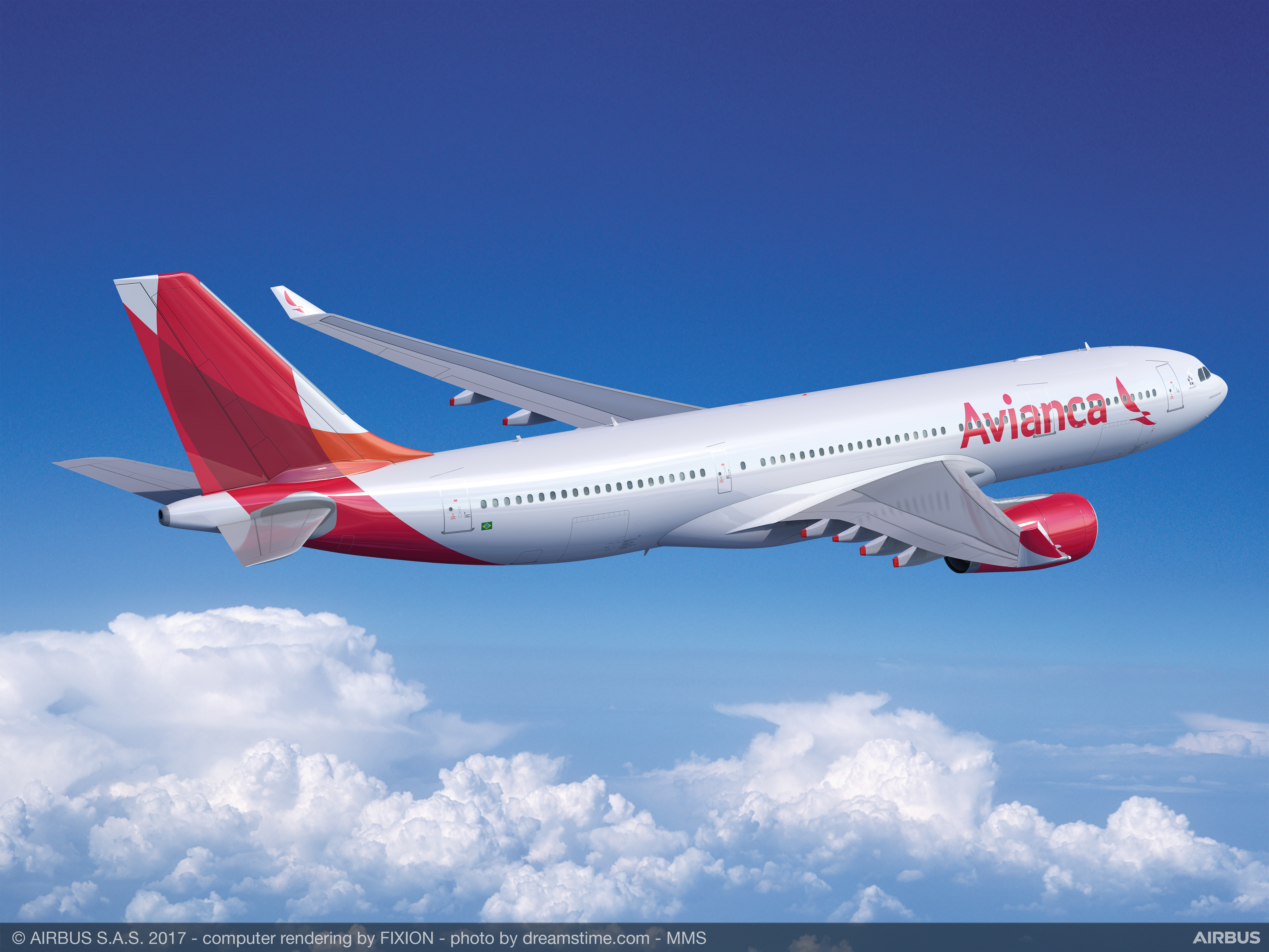 Avianca Brasil, one of Brazil's fastest-growing airlines, now offers daily nonstop passenger flights between São Paulo (GRU) and Miami (MIA). Flights are serviced by Airbus A330-200 aircraft, which seats 238 passengers. (Photo: Business Wire)