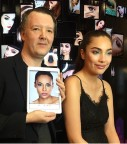 Celebrity makeup artist, Kabuki, designs NYX Professional Makeup look using Perfect365 PRO prior to applying on live model. (Photo: Business Wire)