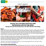 Summer Beverage Fact Sheet
