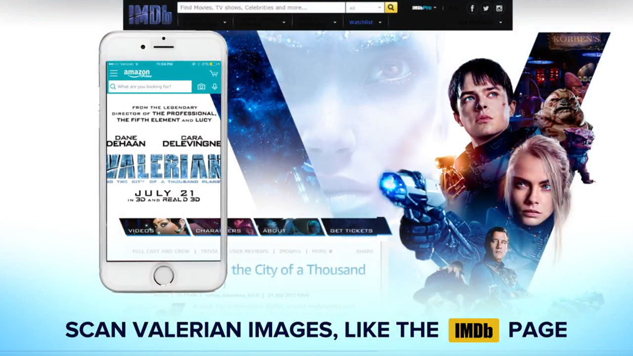 Unlock exclusive VALERIAN content by using camera search in the Amazon App