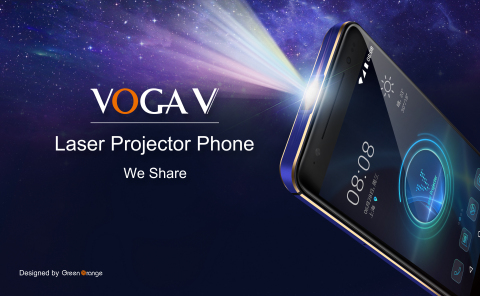VOGA V Laser Projector Phone with PicoP Scanning Technology (Graphic: Business Wire)