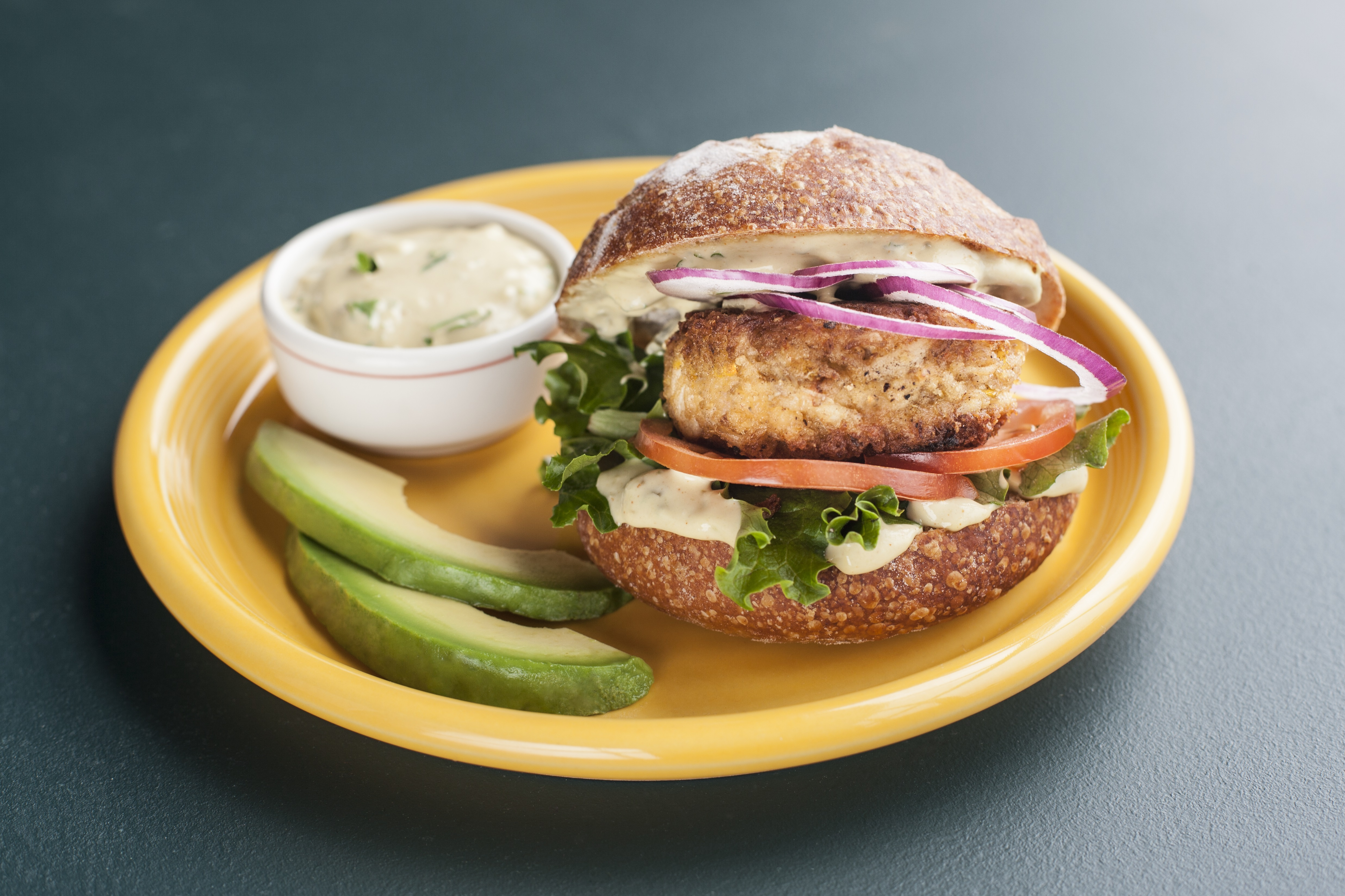 Crab Cake Sandwiches with California Avocado Remoulade (Photo: Business Wire)
