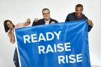 Ready. Raise. Rise. Spokespeople Tia Mowry, Eric Stonestreet and Dak Prescott (Photo: Business Wire)