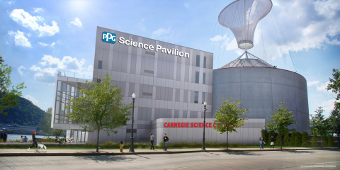 PPG and the PPG Foundation today announced contributions to Carnegie Science Center of Pittsburgh totaling $7.5 million. The largest donation in the center's history is earmarked for a new building that will be named the PPG Science Pavilion. (Photo: Business Wire)