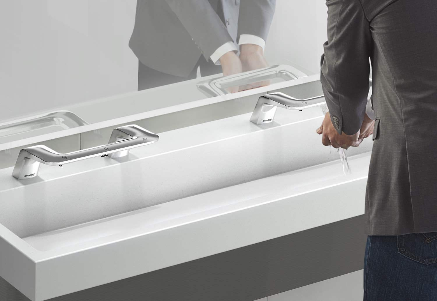 The Verge with WashBar Technology is a completely touchless all-in-one hand washing system that provides a fresh, comfortable and personal hand washing experience. (Photo: Business Wire)