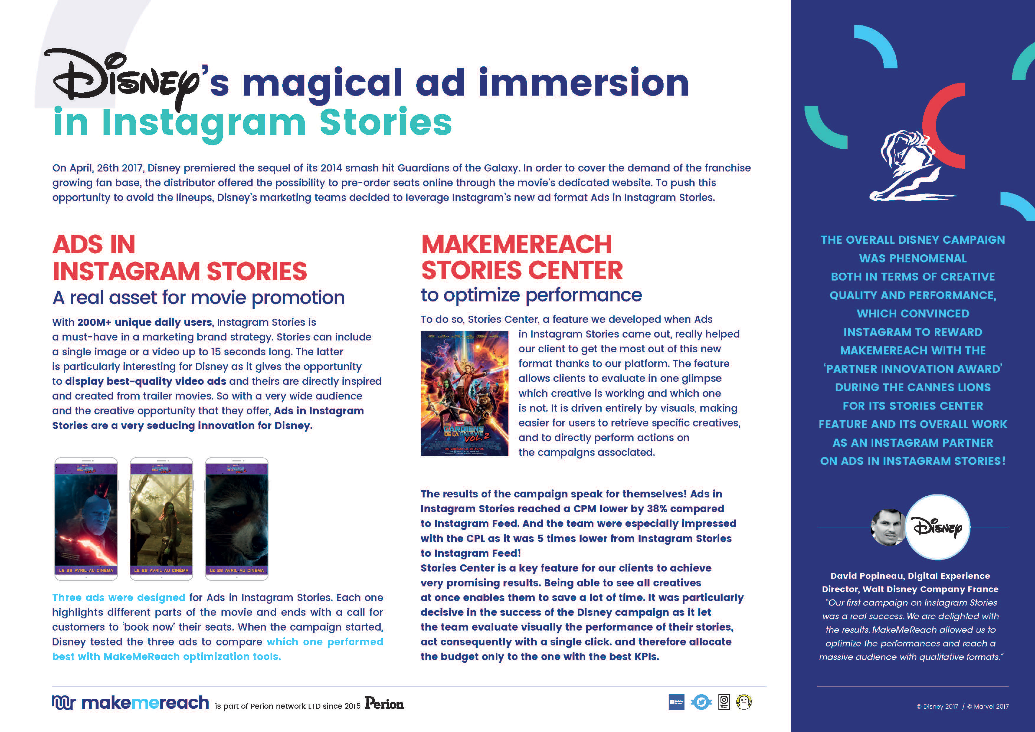 Disney's magical ad immersion in Instagram Stories (Photo: Business Wire)