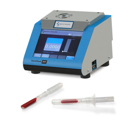 "The FerroCheck 2000 from Spectro Scientific, which measures ferrous wear particles in oils, is now joined by the 2100 version that adds the capability to quantify up to 15% ferrous debris in grease. The measurement is also now supported by ASTM standard D8120 ""Standard Test Method for Ferrous Debris Quantification."" (Photo: Business Wire)"