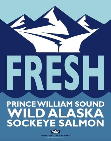 Point of Sale materials available to retailers to support in-store promotions of Prince William Sound salmon (Graphic: Business Wire)