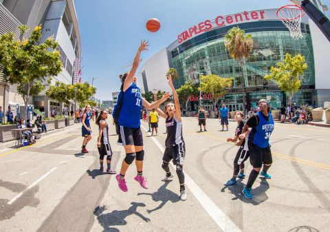 Ninth Annual Nike Basketball 3ON3 Tournament presented by 24 Hour Fitness to Return to L.A. LIVE, August 4-6 (Photo: Business Wire)