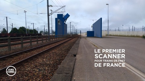 3D projection of the futur freight train scaner - Calais Fréthun - Copyright Eurotunnel