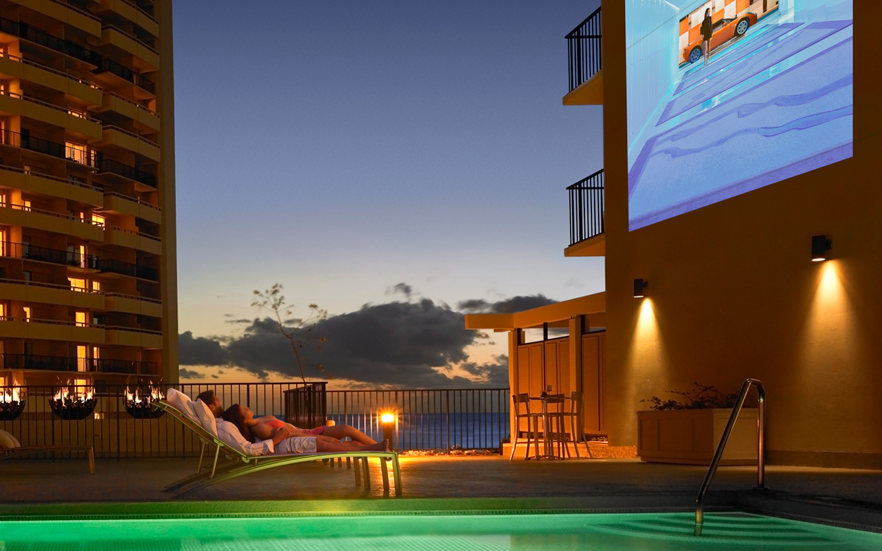 Summer Dive-In Movies at Waikiki Parc. (Photo: Business Wire)