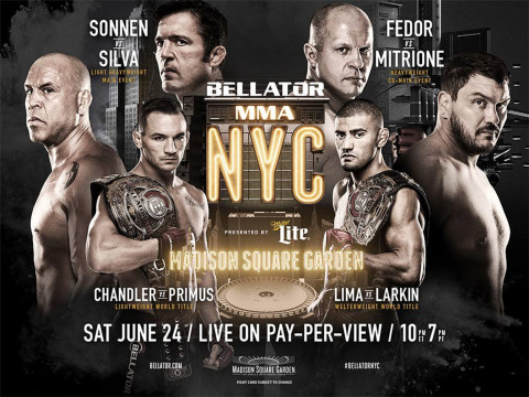 Cable industry's live Ultra HD broadcast of Mixed Martial Arts (MMA) bouts, produced by Bellator NYC ...