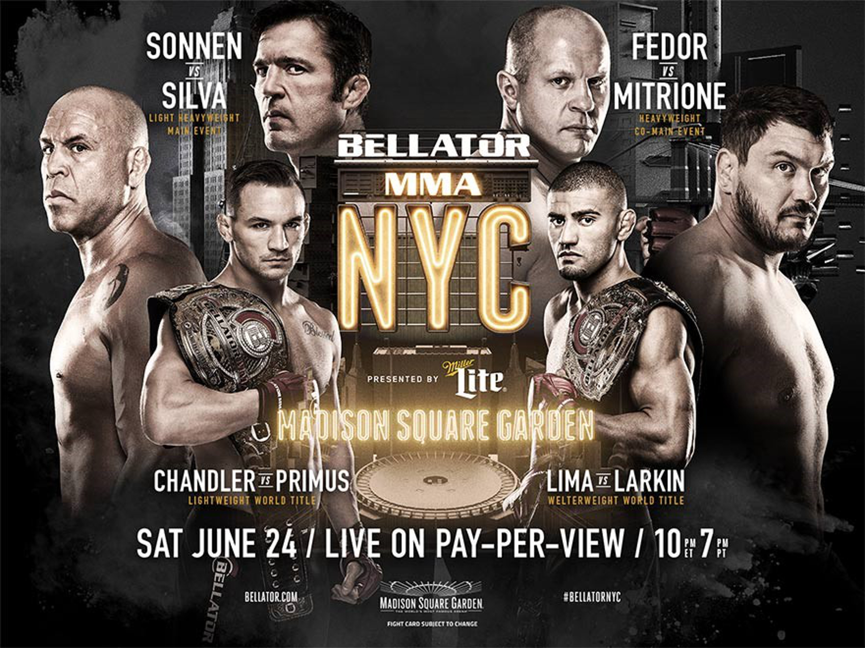 Cable industry's live Ultra HD broadcast of Mixed Martial Arts (MMA) bouts, produced by Bellator NYC, marks milestone for MVPDs in the US (Photo: Business Wire)