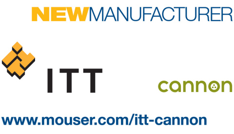 Mouser Electronics announces a global distribution agreement with ITT Cannon, a world leader in the design and manufacture of highly reliable and innovative connector and interconnect products serving military and commercial customers in the aerospace and defense, medical, energy, transportation, and industrial markets. (Graphic: Business Wire)