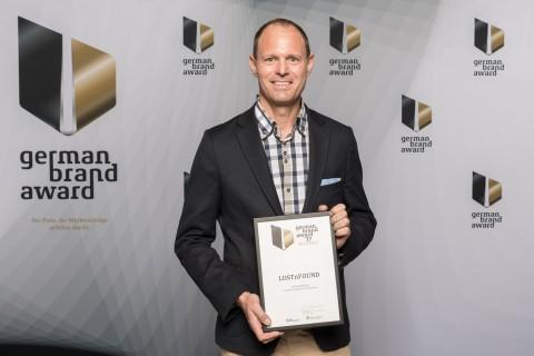 Daniel Thommen, Gründer und Geschäftsführer LOSTnFOUND anlässlich der Preisverleihung (Photo: Business Wire)