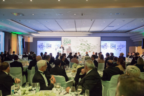 Arnaud Vaissié, Co-Founder, CEO & Chairman of International SOS, opens the International SOS Foundation 2017 Duty of Care Awards. (Photo: Business Wire)