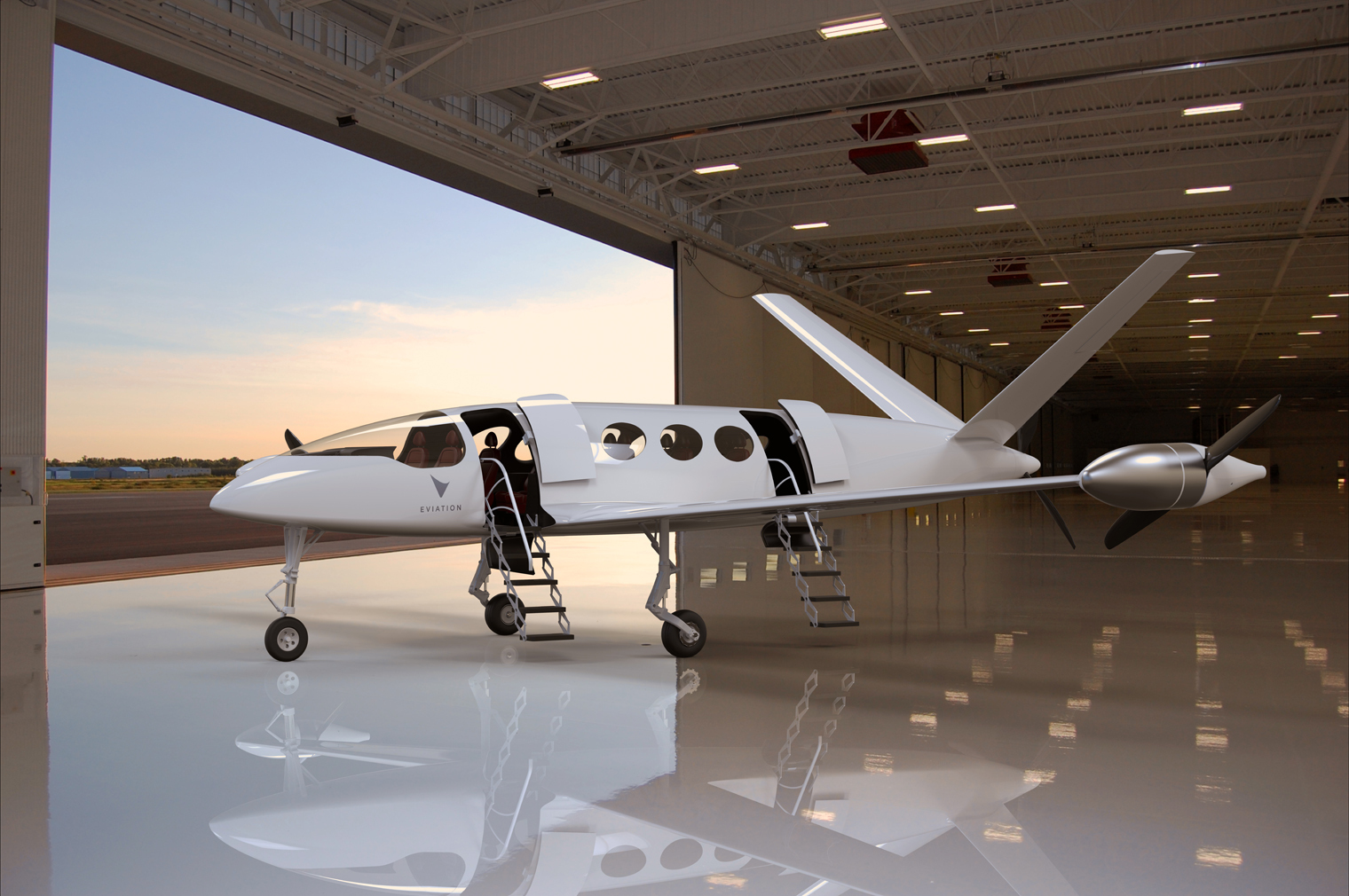 Eviation electric aircraft designed to take 9 passengers up to 1,000km at more than 240kts - all at the price of a train ticket (Photo: Business Wire)
