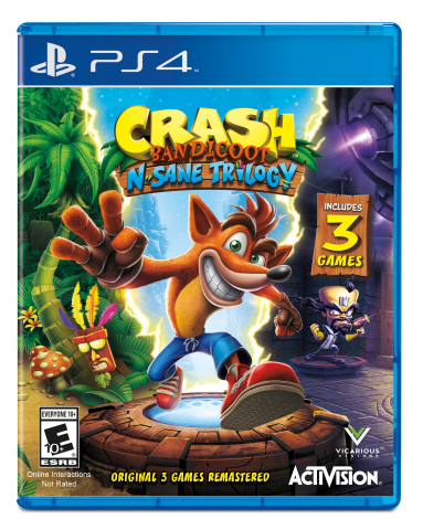 Today Activision launches Crash Bandicoot™ N. Sane Trilogy for PS4 and PS4 Pro and brings back Crash Bandicoot, one of the most iconic video game characters of all time. (Graphic: Business Wire)