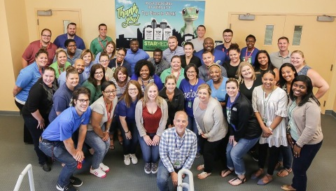 GEICO's Indianapolis team celebrates being a named a Top Workplace for three consecutive years. (Photo: Business Wire)
