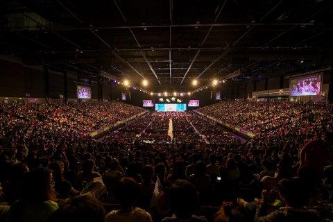 6月16日~18日まで香港で開催されたアジア太平洋地域ノースアジア・エクストラバガンザには9000人のハーバライフ・ニュートリション会員が参加 (写真:ビジネスワイヤ)