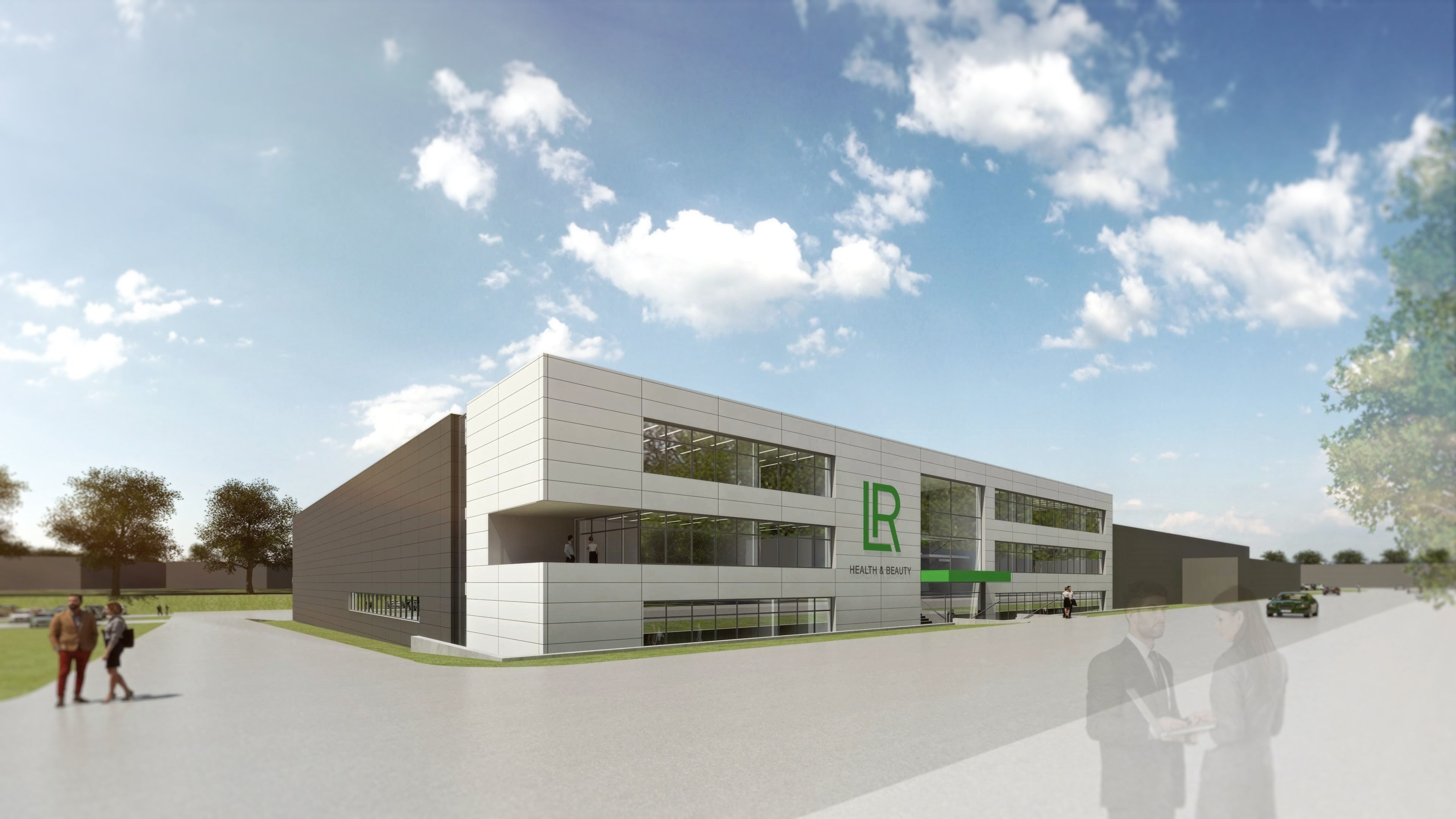Model view of the new production site for Aloe Vera Drinking Gels (Copyright: Assmann Gruppe / LR).