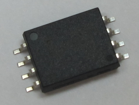 """Toshiba: a new gate driver photocoupler """"TLP5832,"""" housed in a low-height SO8L package. (Photo: Business Wire)"""