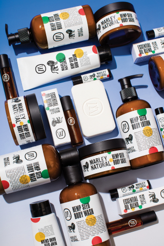 Naturally-derived cannabis sativa body care infused with Jamaican botanicals by Marley Natural (Photo: Business Wire)
