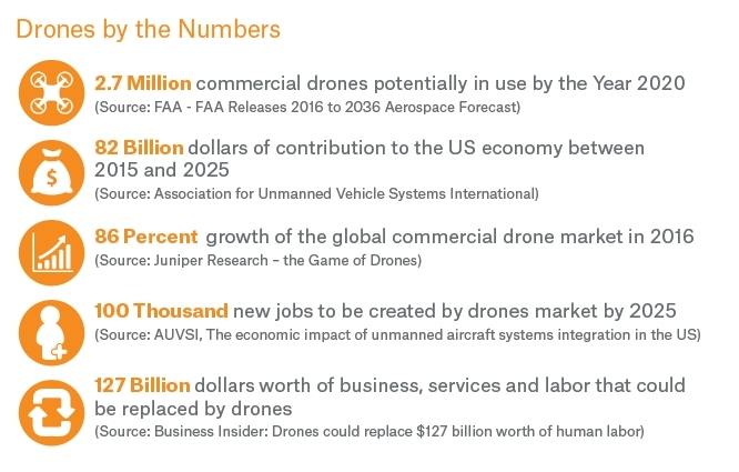 Drones by the Numbers (Graphic: Business Wire)