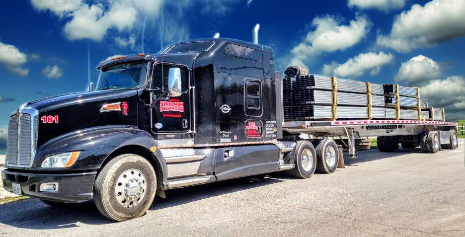 The Steelman Companies truck - Operating throughout the Midwest, The Steelman Companies specialize in flatbed and heavy haul freight, as well as transporting roll-on powersports, industrial warehousing and 10-wheel drive-away services. (Photo: Business Wire)