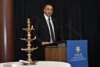 Mr. Kapil Wadhawan, Group Chairman WGC addresses the faculty at Simon Business School, University of Rochester at the Plaque ceremony. (Photo: Business Wire)