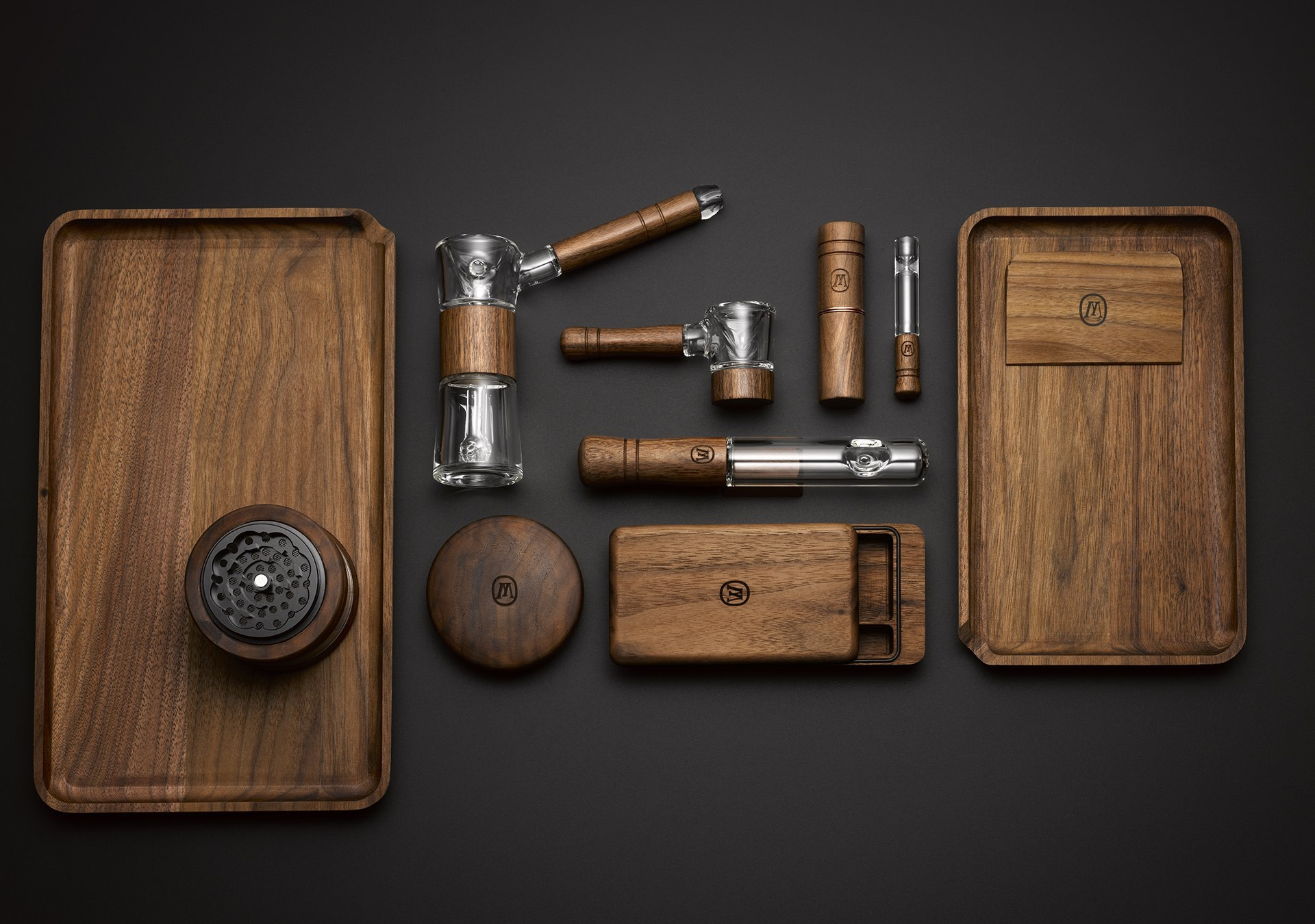 Sustainably sourced American black walnut smoking accessories by Marley Natural (Photo: Business Wire)
