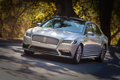 The all-new Lincoln Continental's available crash protection system, along with its good rating on crash tests and optional adaptive LED headlamps, helped it achieve the IIHS ranking. (Photo: Business Wire)